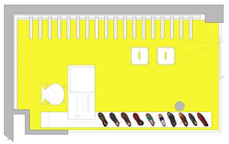 ออกแบบตกแต่งภายในร้านรองเท้า