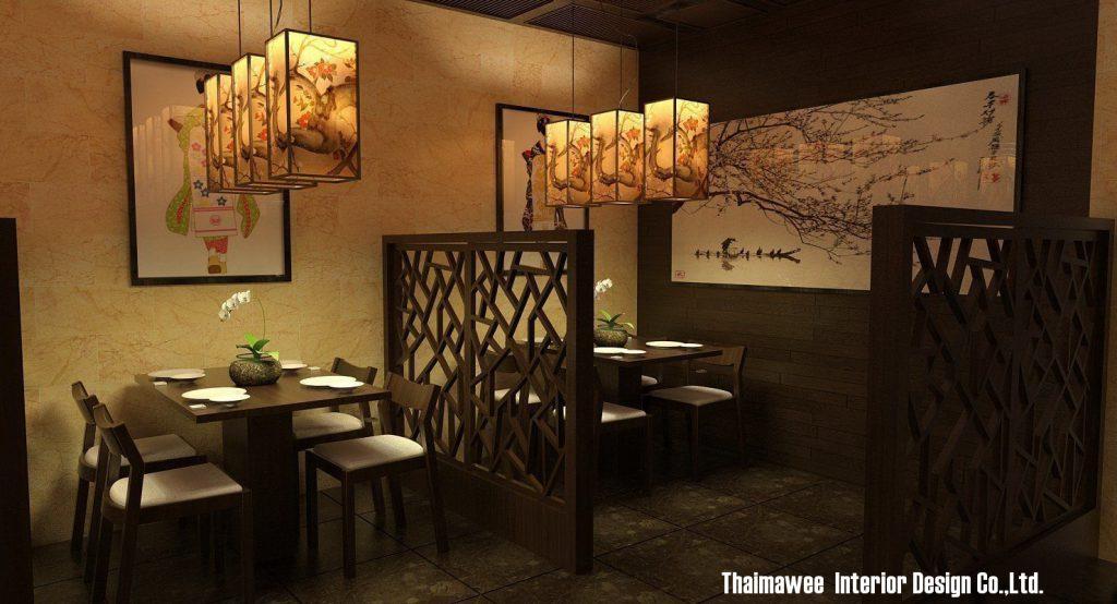 รับตกแต่งภายในร้านอาหารญี่ปุ่น