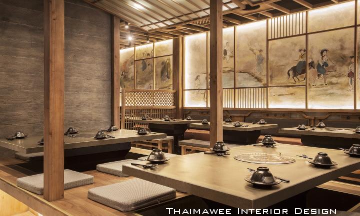 รับออกแบบตกแต่งร้านอาหารเกาหลี